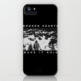 Radiohead Thom Yorke Raining iPhone Case