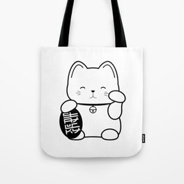 Stay Lucky WHT Tote Bag