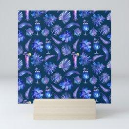 Tropical Night - Pattern 2 Mini Art Print