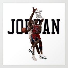 Jordan Reverse layup Hand Painted Art Print
