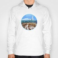 geology Hoodies featuring The Geology of Boating by Patricia Howitt