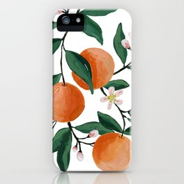 Orange Blossom Print by Lindsay Brackeen iPhone Case