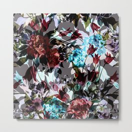 Seamless Absract Flower Pattern Metal Print