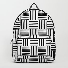 symetric tartan and gingham 4 -vichy, gingham,strip,square,geometric, sober,tartan Backpack