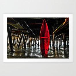 Rescue Canoe Art Print