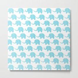 Blue Elephant Parade Metal Print