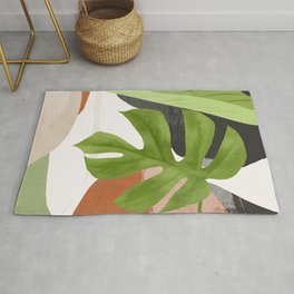 Abstract Art Tropical Leaf 12 Rug