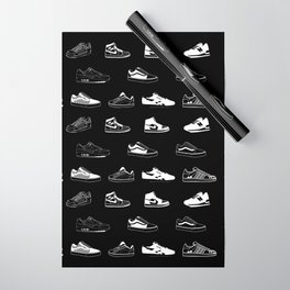 Black Sneaker Wrapping Paper