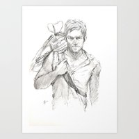 daryl Art Prints featuring Daryl by Eric Dockery