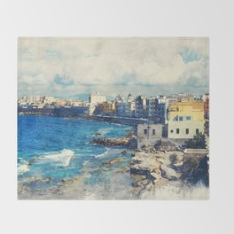 Trapani art 19 Sicily Throw Blanket