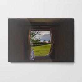 Living Room Window, Abandoned Farm House, North Dakota 2 Metal Print