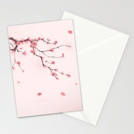 Oriental cherry blossom in spring 002 Stationery Cards