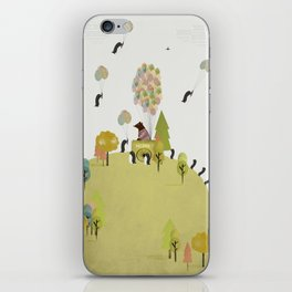 oh my how penguins fly iPhone Skin