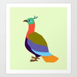 Danphe: The Bird of the Himalayas Art Print