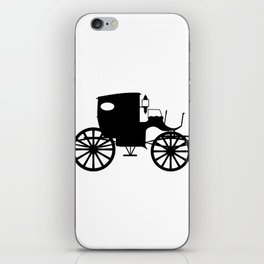 Old Carriage Silhouette iPhone Skin