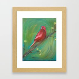 Red Canary Framed Art Print