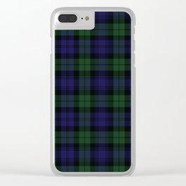 BLACK WATCH TARTAN Clear iPhone Case