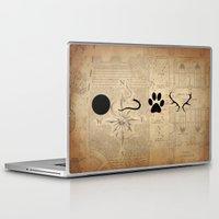marauders Laptop & iPad Skins featuring The Marauders - Moony, Wormtail, Padfoot and Prongs by Renatta Maniski-Luke