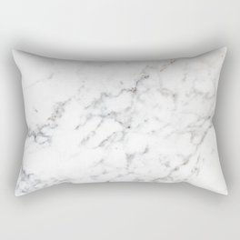 Faux White Marble Texture Look-like (NOTICE: Not Real Marble) Rectangular Pillow