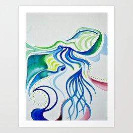 Natural view Art Print