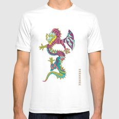 Dragon White MEDIUM Mens Fitted Tee