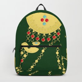 Traditional jewelery green Backpack