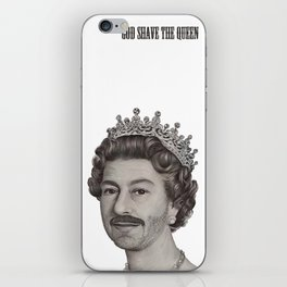 God shave the Queen iPhone Skin