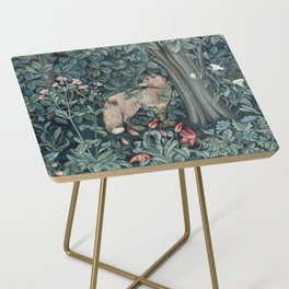 William Morris Forest Fox Tapestry Side Table