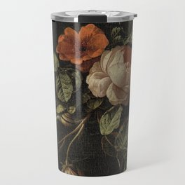 Elias van den Broeck - Still life with roses - 1670-1708 Travel Mug