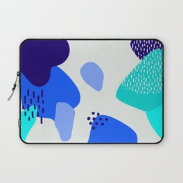 Blue abstract pattern Laptop Sleeve