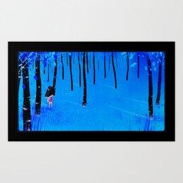 Twig Boy in autumn forest. Art Print
