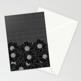 Daisy Grid Black Stationery Cards