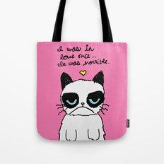 Grumpy Cat Love Tote Bag