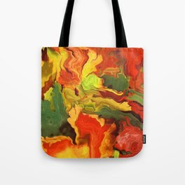 abstract fall leaves Tote Bag