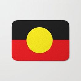 Australian Aboriginal Flag Bath Mat