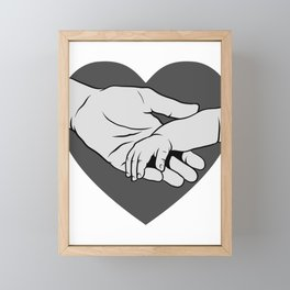 New Dad Holding Hands with Baby Father's Day Framed Mini Art Print