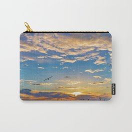 Daisys and Seagull at Sunset Carry-All Pouch