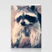 racoon Stationery Cards featuring racoon by oslacrimale