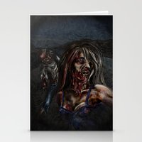 zombies Stationery Cards featuring Zombies!! by Shyniester