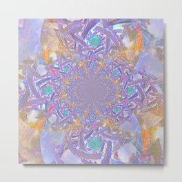 Mandala- Purple Fantasy Metal Print