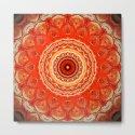Vintage Orange Mandala Design by artaddiction45