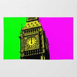 Big Ben - In all her coloured glory... Rug