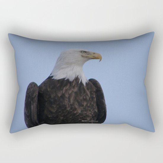 Bald Eagle on Watch along the Kenai River Rectangular Pillow