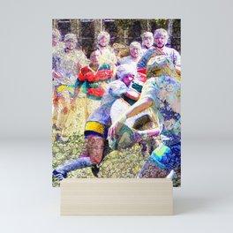 Womens rugby art 3 Mini Art Print