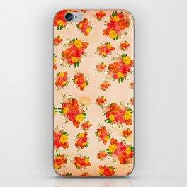 Blush Pink Vintage Floral iPhone Skin