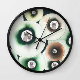 Lolo Whimsical Cats Wall Clock