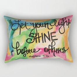 Let your light shine Rectangular Pillow