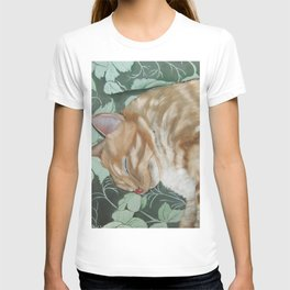 Catnap Sleeping Cat Painting T-shirt