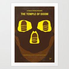 No517 My The temple of doom minimal movie poster Art Print