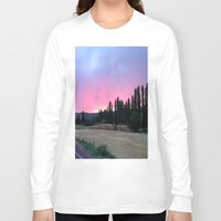 madrid Long Sleeve T-shirts featuring atardecer Madrid by Maritserg